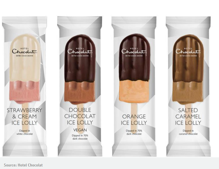 hotel chocolat vegan ice lollies