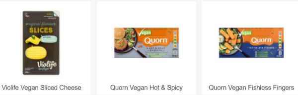 sainsbury vegan products